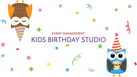 Template di design Birthday Invitation with Party Owls Youtube
