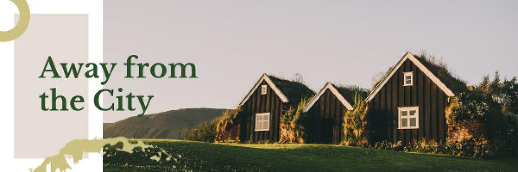 Small Cabins in Country Landscape — Modelo de projeto