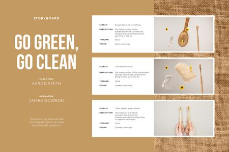Eco-friendly cleaning products Storyboard Modelo de Design