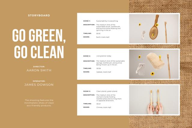 Eco-friendly cleaning products Storyboard Design Template