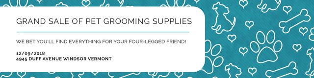 Szablon projektu Grand sale of pet grooming supplies Twitter