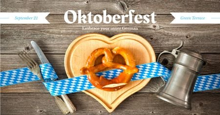Ontwerpsjabloon van Facebook AD van Traditional Oktoberfest treat