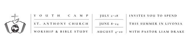 Plantilla de diseño de Youth religion camp of St. Anthony Church Twitter