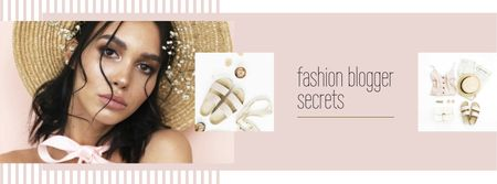 Template di design Fashion Blog ad Woman in Summer Outfit Facebook cover