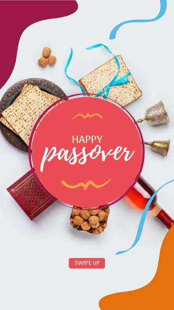 Modèle de visuel Happy Passover festive dinner - Instagram Story