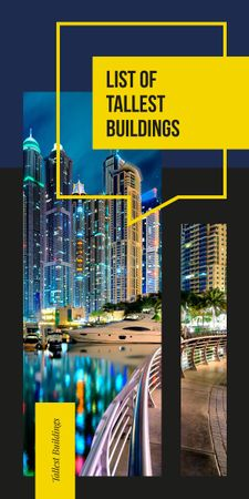 Tallest Modern buildings list Graphic – шаблон для дизайну