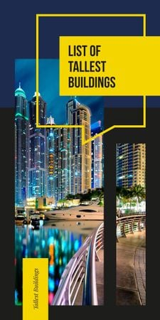 Plantilla de diseño de Tallest Modern buildings list Graphic