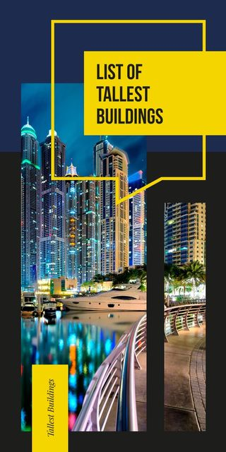 Tallest Modern buildings list Graphic – шаблон для дизайна