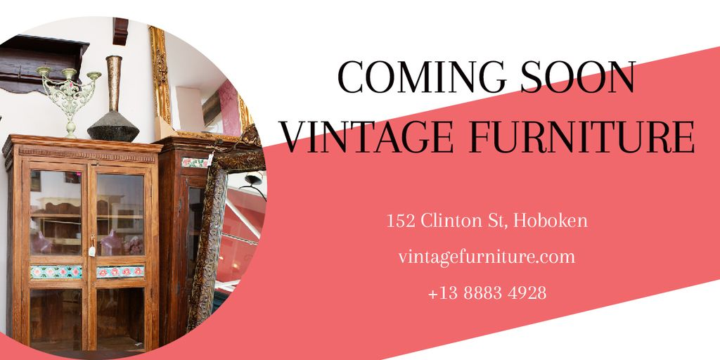 Coming soon vintage furniture shop — ein Design erstellen