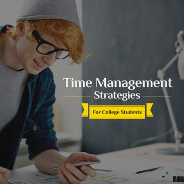 Time management strategies for college students poster