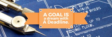 Ontwerpsjabloon van Email header van Goal motivational quote