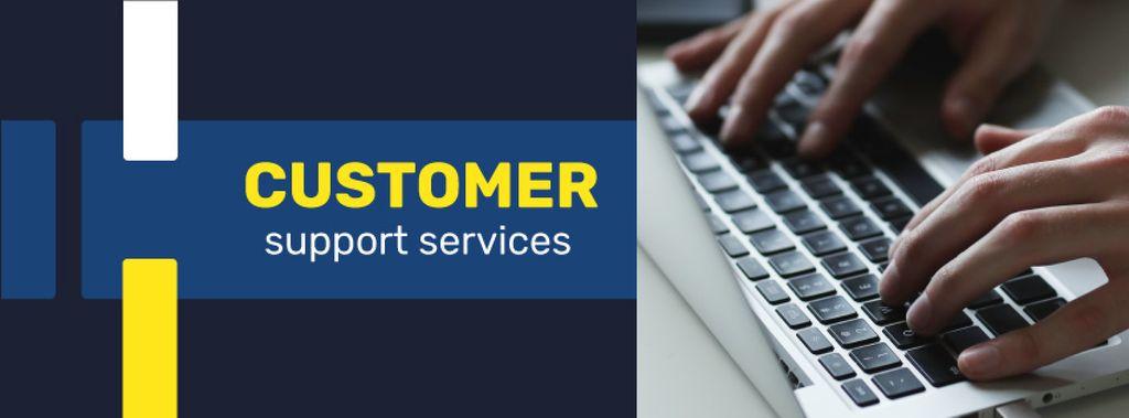 Business Service Worker typing on Laptop — Modelo de projeto