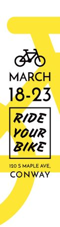 Ontwerpsjabloon van Skyscraper van Ride your bike banner
