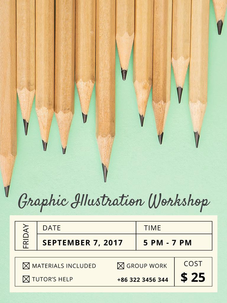 Graphic illustration workshop invitation poster us template design graphic illustration workshop invitation design template stopboris Choice Image