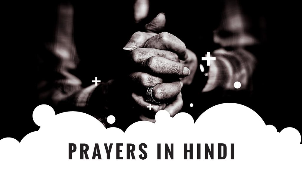 Hindi Faith Hands Clasped in Prayer — Modelo de projeto