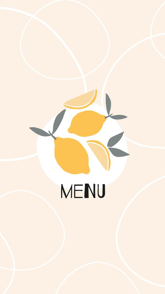 Food Delivery services with lemons and wine icons — Modelo de projeto