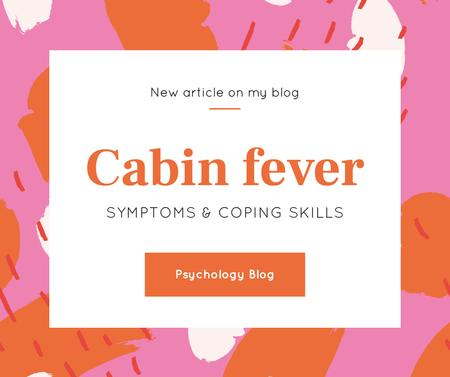 Psychology Blog Ad on Colorful spots background Facebook Modelo de Design