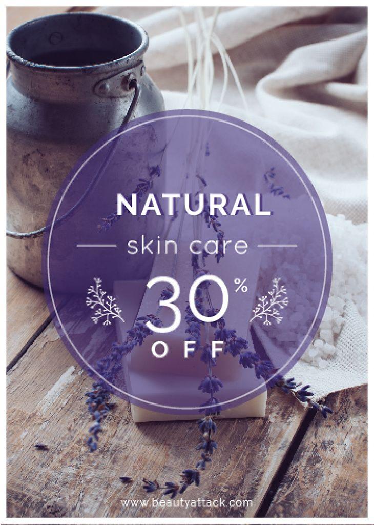 Natural skincare sale poster — ein Design erstellen