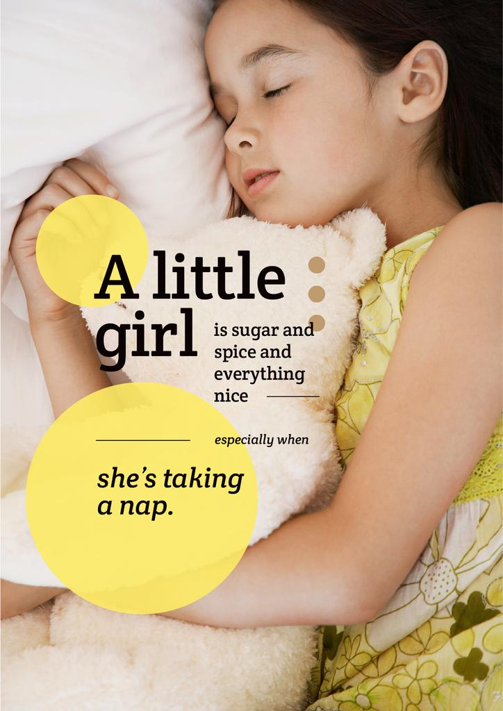 Cute little girl sleeping — ein Design erstellen