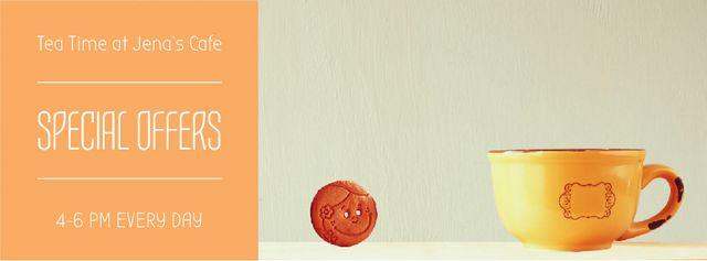 Modèle de visuel Chocolate cookies with cup of milk - Facebook Video cover