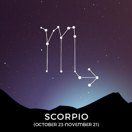 Night Sky With Scorpio Constellation Animated Post – шаблон для дизайну