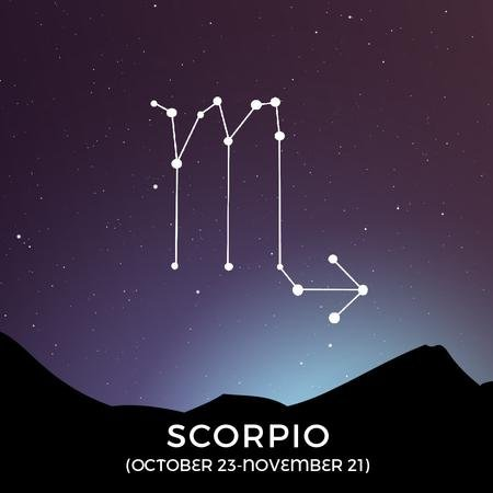 Modèle de visuel Night Sky With Scorpio Constellation - Animated Post