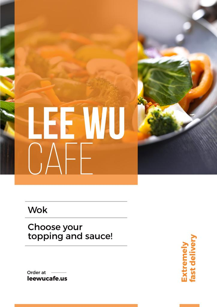 Advertisement poster for wok cafe — ein Design erstellen