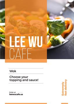 Advertisement poster for wok cafe