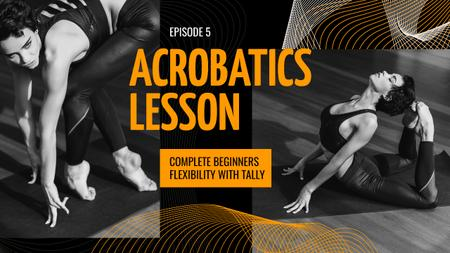 Plantilla de diseño de Acrobatics Lessons Ad Woman Stretching Youtube Thumbnail