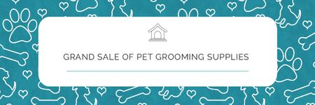 Plantilla de diseño de Grand sale of pet grooming supplies Email header