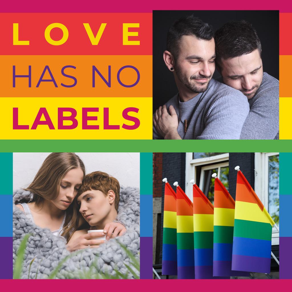 LGBT couple hugging — Créer un visuel