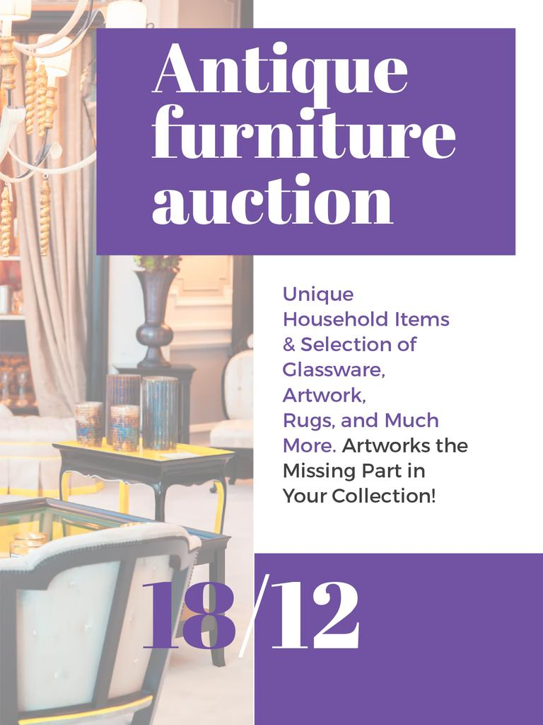 Antique Furniture Auction — Create a Design