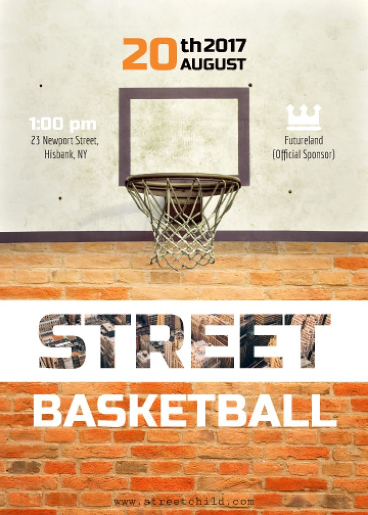 Street basketball match announcement — Создать дизайн