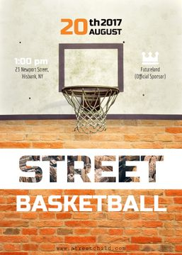 Street basketball match announcement