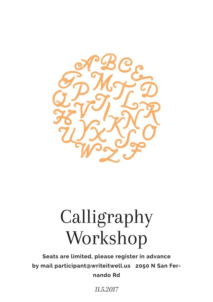 Calligraphy workshop poster — ein Design erstellen