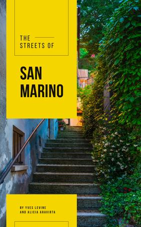 San Marino Narrow City Street Book Cover Modelo de Design