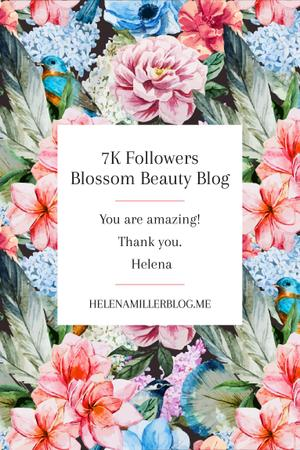 Ontwerpsjabloon van Pinterest van Beauty blog Ad in Blossom