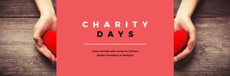 Charity Days Annoucement Email header Design Template
