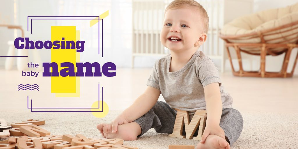 Child Playing with Letters | Twitter Post Template — Створити дизайн