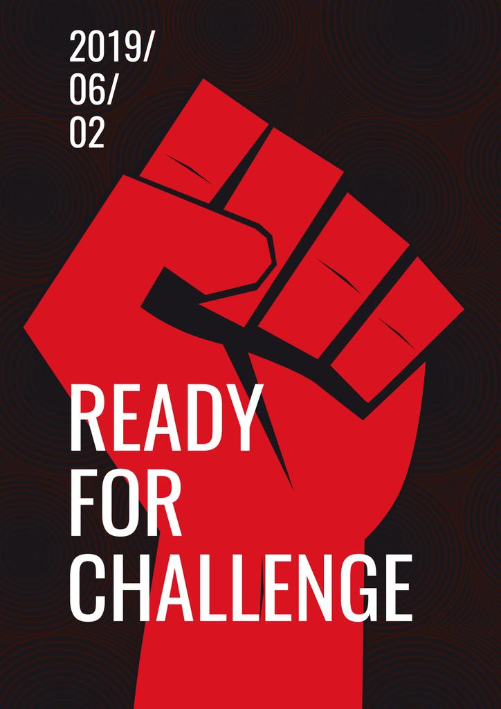 Ready for challenge poster — Crea un design