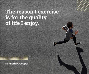 Sport Quote with Man Running on road