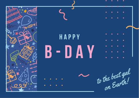 Template di design Birthday celebration Invitation Card