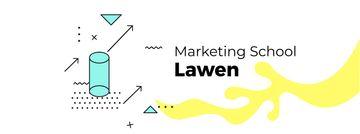 Marketing School Ad moving geometric figures
