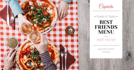 Best friends Day menu Offer Facebook AD Design Template