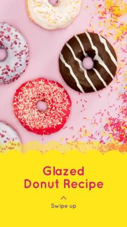 Delicious glazed Donuts Instagram Story – шаблон для дизайна