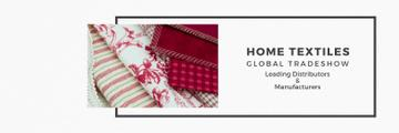 Home Textiles Event Announcement in Red | Twitter Header Template