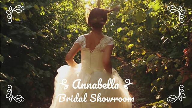 Template di design Bride running on green pathway Full HD video