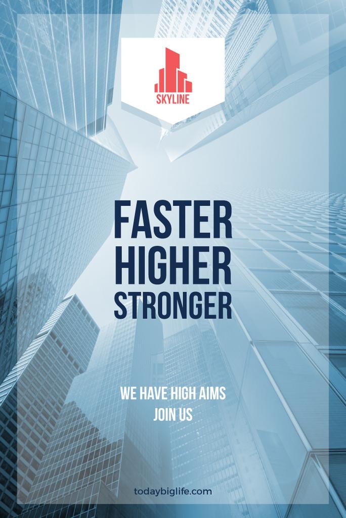 Real Estate Advertisement Modern Skyscrapers | Pinterest Template — Create a Design