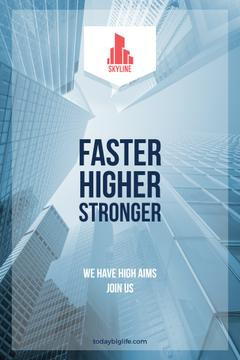 Real Estate Advertisement Modern Skyscrapers | Pinterest Template