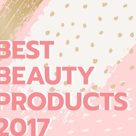 Ontwerpsjabloon van Instagram AD van Beauty products guide in pink
